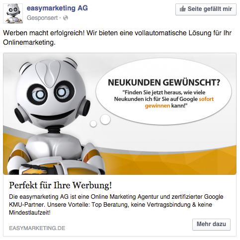 Facebook Ads, die etwas versprechen, funktionieren super: Wenn das Versprechen gehalten wird!