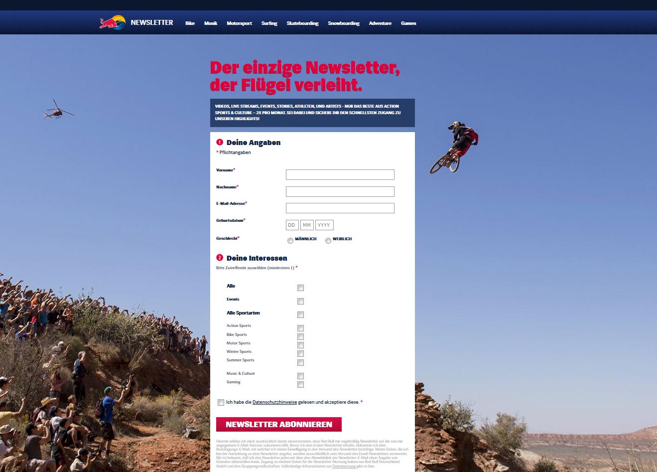 RedBull-Landing-Page