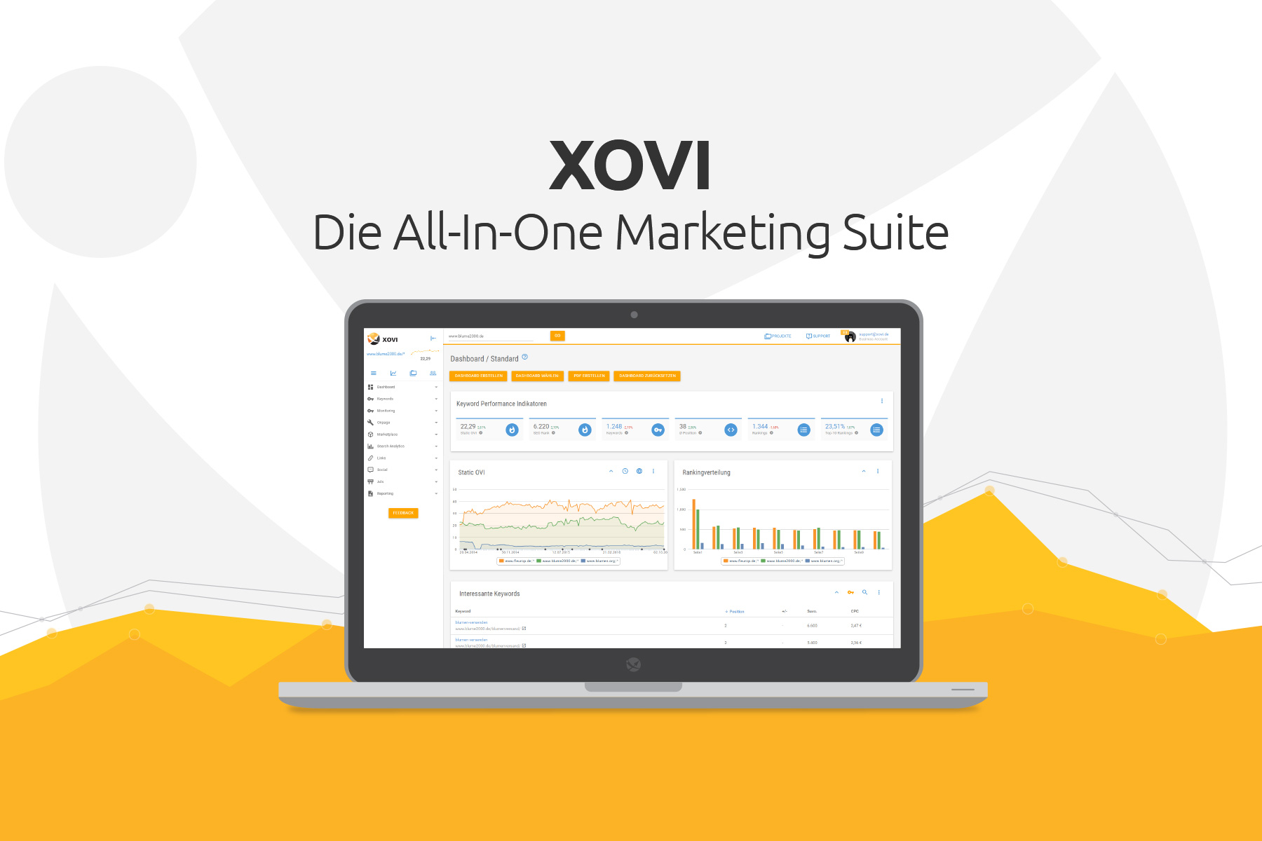 XOVI Suite - SEO & Social Online Marketing Tool