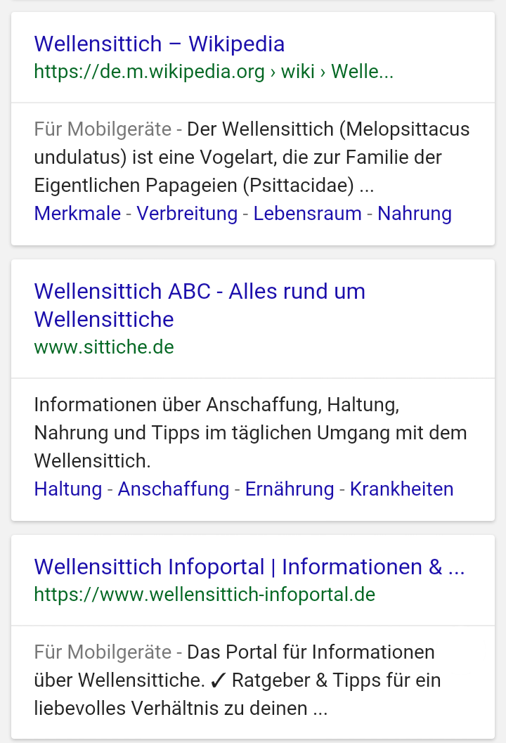 Google Mobile SERP Snippets