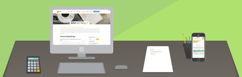 Desktop XOVI Blog Schreibtisch