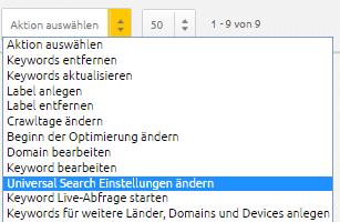 Keyword Monitoring editieren