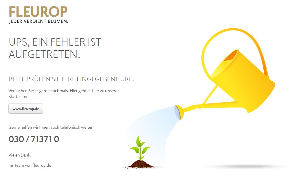 Fleurop 404 Seite
