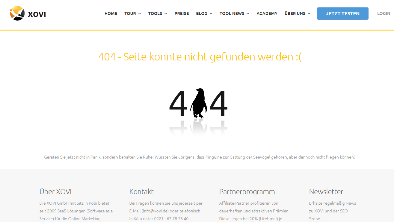 XOVI  404 Seite