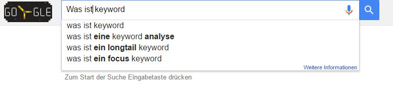 Googlesuche W-Fragen