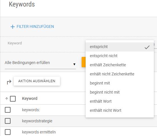 Keyword Recherche mit XOVI: Keyword-Bedingungen einstellen für bessere Ergebnisse