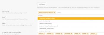 Yandex im XOVI Keyword Monitoring