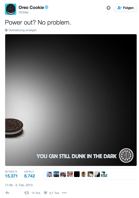 Oreo Cookie Power Out