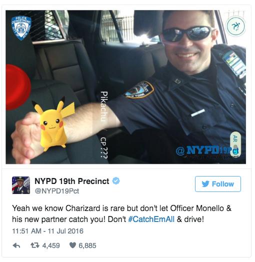Pokemon Go Polizei