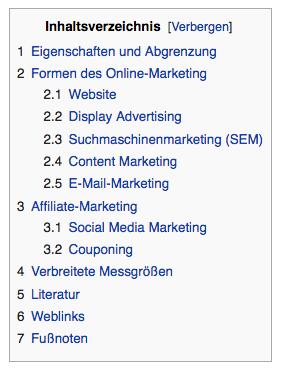 Wiki Index Navigation