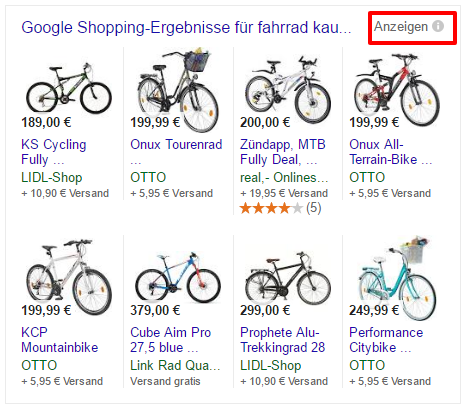 Google Shopping Box