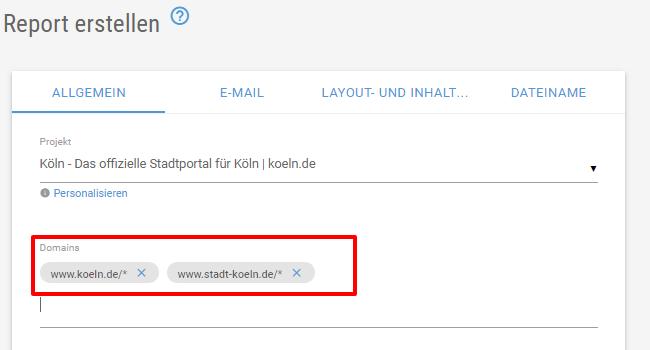 XOVI Suite Domain auswählen