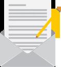 E-Mail und Stift