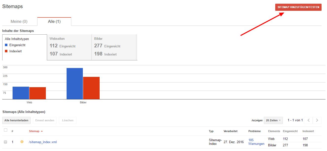 sitemap erstellen und bei google einreichen xovi