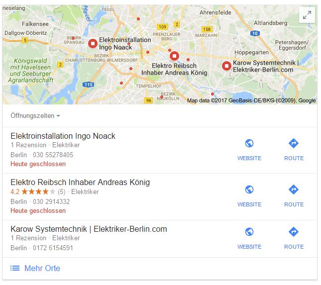 Elektriker Berlin Google Suche