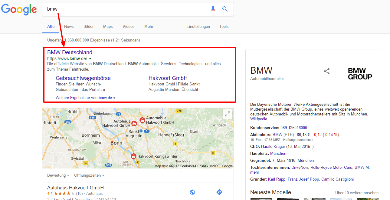 Google SERP: BMW