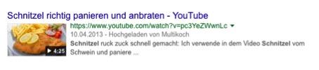 SERP Video Beispiel