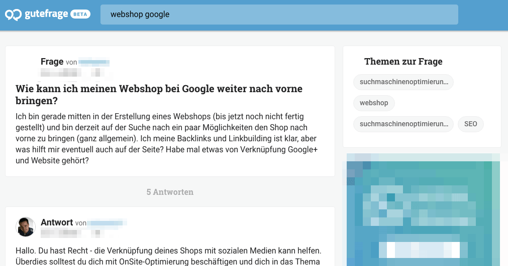 Gute Frage: webshop google
