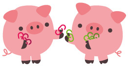 Zwei Schweinchen, die Backlinks tauschen
