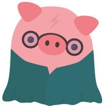 Wizard-Schweinchen mit Tarnumhang