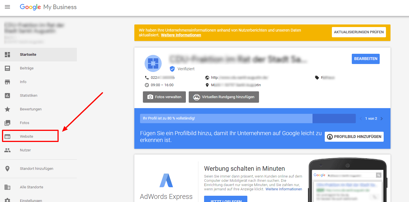 MyBusiness Website