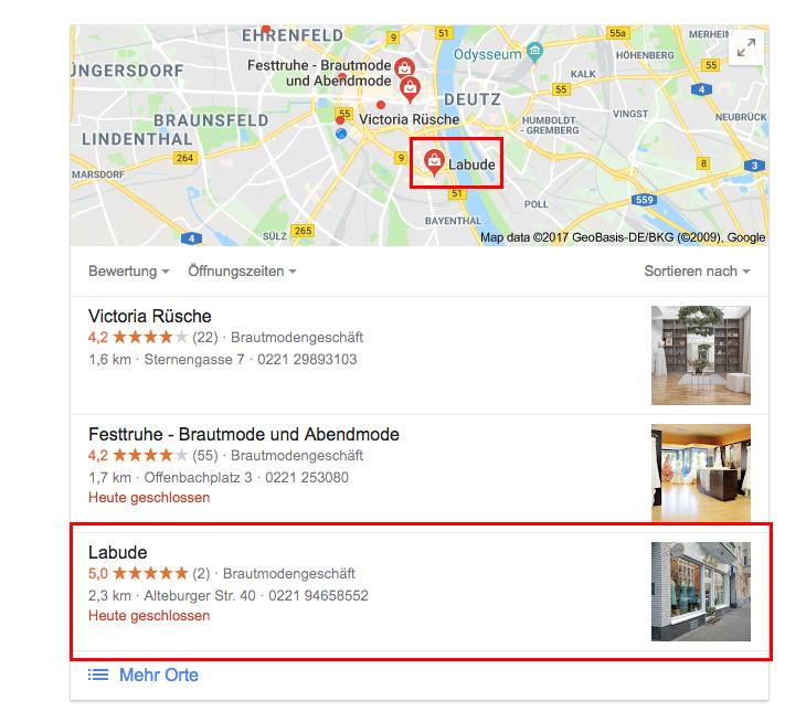 Google Maps Anzeigen
