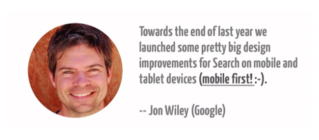 Twitter post of Google Design Director Jon Wiley early 2015