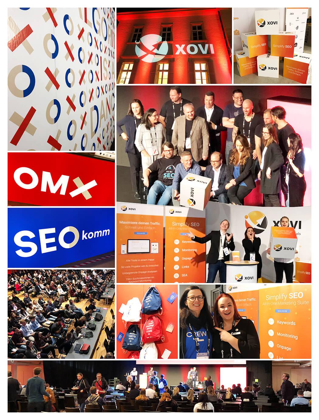 Collage OMX Salzburg und SEOkomm 2018
