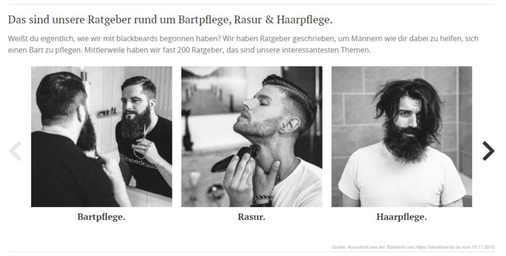 Screenshot des Ratgebers von blackbeards.de