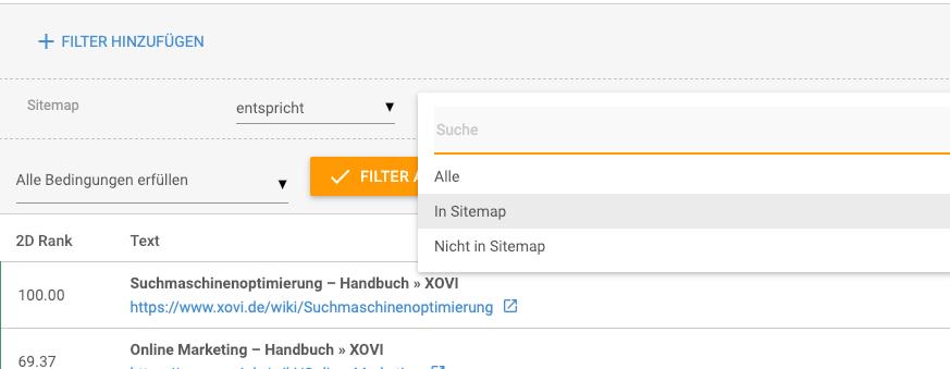 Filter Sitemap