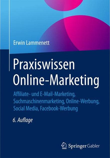 """Cover des Buches """"Praxiswissen Online-Marketing"""", 6. Auflage"""