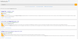 Content Relevanz Suche Ergebnisleiste der XOVI Suite