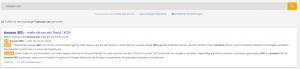 Content Relevanz Suche Ergebnisseite II der XOVI Suite