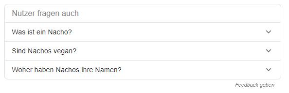 Screenshot SERPs Nutzer fragten auch