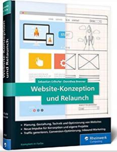 """Cover des Buches """"Website-Kozeption und Relaunch"""" von Sebastioan Erlhofer und Dorothea Brenner"""