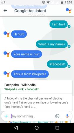 Voice Search Beispiel