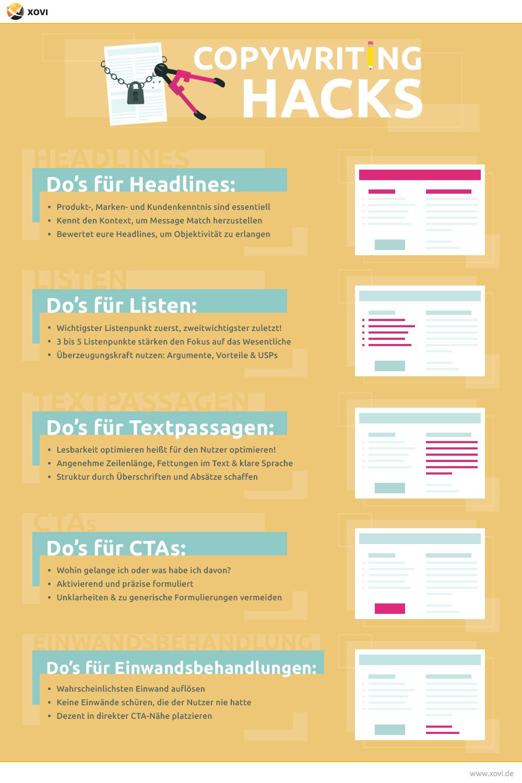 Checkliste Copywriting Hacks