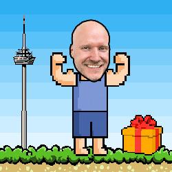 Björn Tantau als Videospiel-Figur