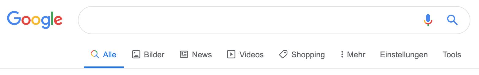 Die Suchergebnisleiste von Google hat seit kurzem Icons für eine bessere UX