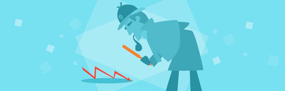 Titelbild: Detektiv untersucht Rankingverluste