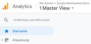 Screenshot der Berichte in Google Analytocs