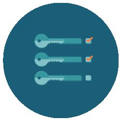 3 Schlüssel mit Haken