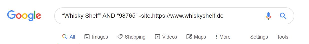 Google Site Abfrage für Unternehmen und Postleitzahl