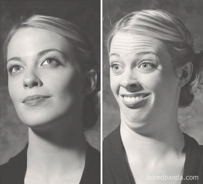Zwei Portraits einer Frau