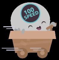Crawler im schnell fahrenden Bollerwagen