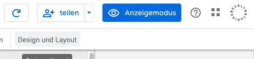 Screenshot des Button Anzeigemodus zum Wechsel in die Dashboard-Ansicht