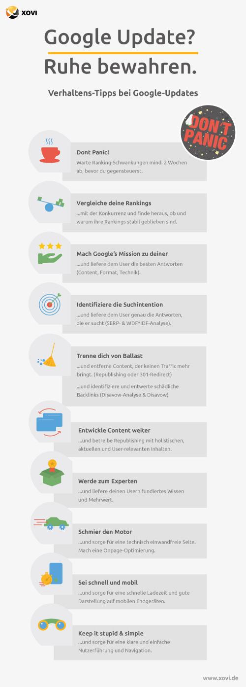 Verhaltens-Tipps bei Google-Updates
