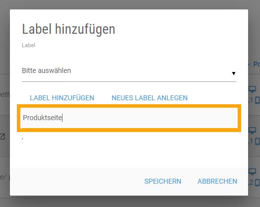 label hinzufuegen monitoring titel vergeben