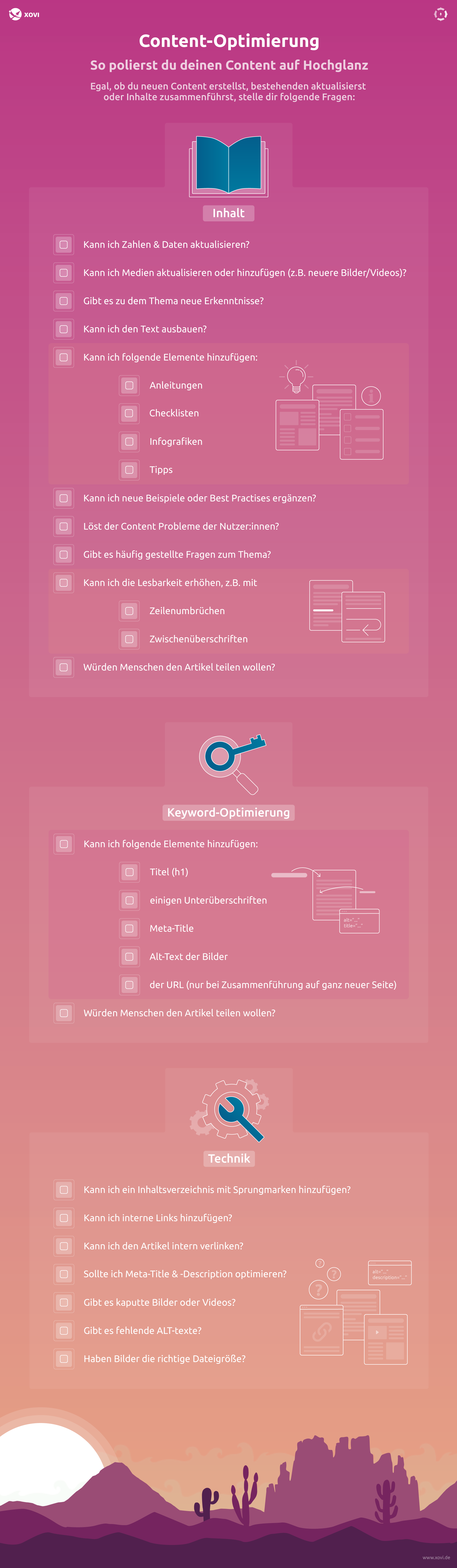 Checkliste für die Content-Optimierung beim Content-Audit