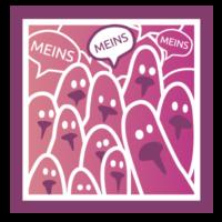 """Möwen und Sprechblasen """"Meins! Meins! Meins"""""""